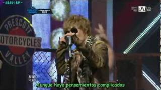 [spanish sub] Kim Hyun Joong - Do You Like That + Lucky Guy comeback stage (20.10.11)