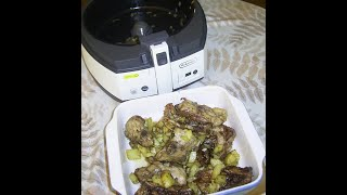 Functional testing Delonghi AirFryer FH 1163  . We cook chicken backs.