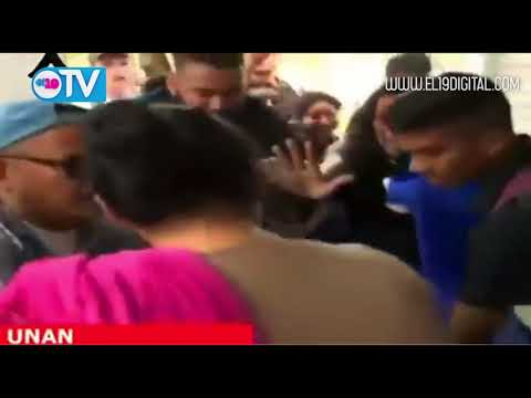 Cobardes agreden a mujer en la UNAN-Managua