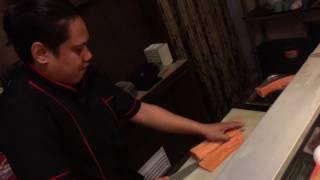 Salmon Sashimi preparation - Bless Okiniiri Japanese Resto