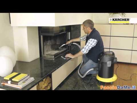 Aspiracenere Aspiratore Aspirapolvere Kaercher AD3.200 per Ceneri Fusto in Metallo 17lt 1200w