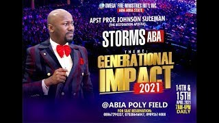 IMPACT 2021 WITH APOSTLE JOHNSON SULEMAN// ABA, ABIA STATE, NIGERIA ( Day 2 Evening Session