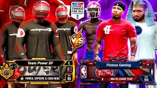 POWER DF vs PISTONS GT - NBA 2K LEAGUE $25,000 3V3 TOURNAMENT ROUND 3 NBA 2K20 PARK