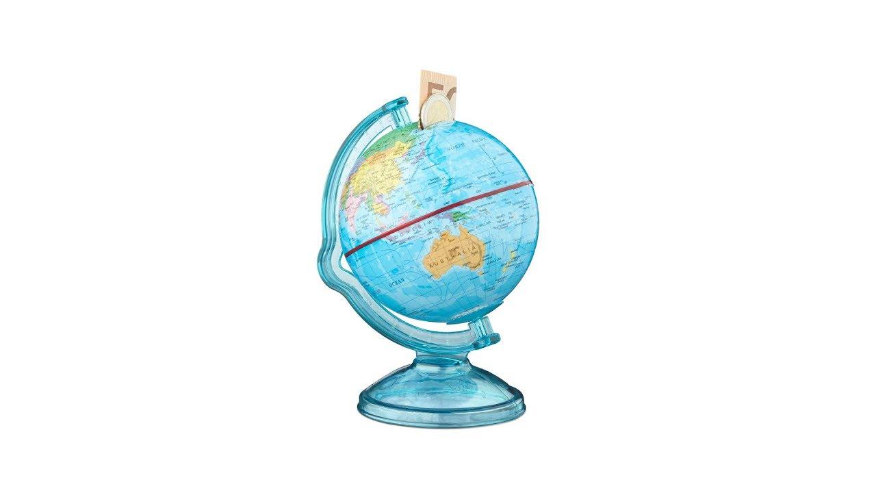 Video von: Spardose Globus drehbar