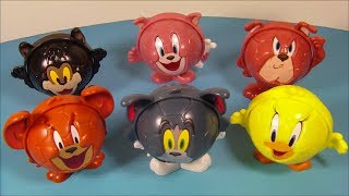 2014 TOM And JERRY SET OF 6 BURGER KING KIDS MEAL TOYS VIDEO REVIEW