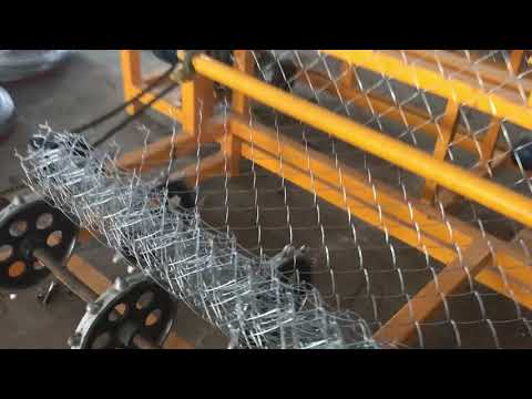 Stainless Steel Chain Link Fence Making Machine