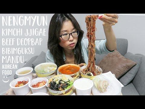 MUKBANG ft. Kimchi Jjigae Mandu Icy Nengmyun Bibim Noodles