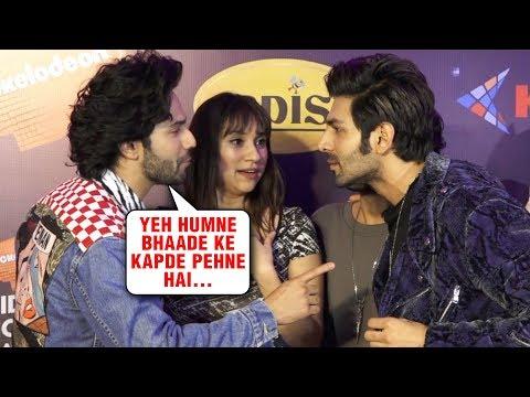 Varun Dhawan Kartik Aaryan Wear 'Bhaade Ke Kapde'