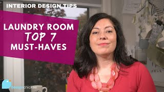 Interior Design Tips: Laundry Room Must-Haves