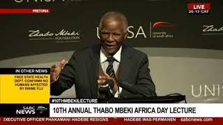 Former Pres. Thabo Mbeki introduces former Prime Minister of Ethiopia Hailemariam Dessalegn Boshe