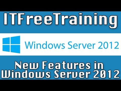 New Features in Windows Server 2012 - YouTube