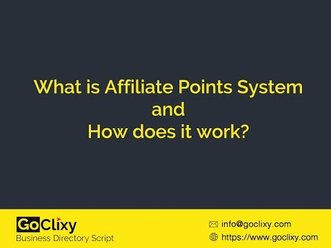 What is Affiliate Points System and How does it work?