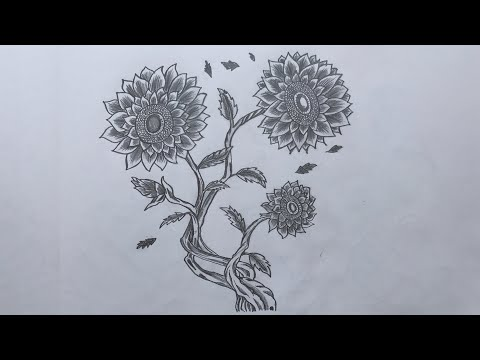 How to Draw Sunflower Easy Step by Step