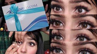How I Wear Contact Lenses | How I Apply Eye Lenses | Natasha Waqas