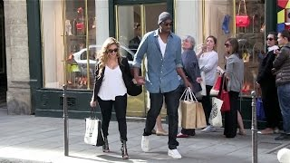 EXCLUSIVE - Kobe Bryant and wife Vanessa show PDA in Paris