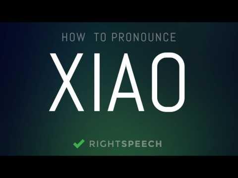 Xiao - How to pronounce Xiao