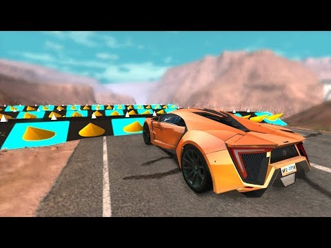 Beamng Drive - Police Spike Strips Speed Bumps Crashes
