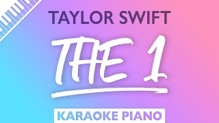 Taylor Swift - the 1 (Karaoke Piano)