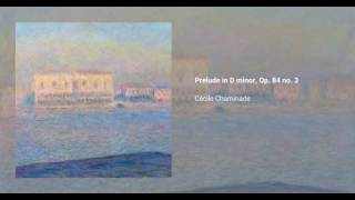 3 Préludes, Op. 84