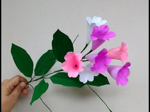, title : 'How to make Paper Flowers Garlic Vine / Mansoa alliacea (flower# 211)