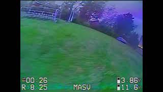 Garden FPV racing at dusk