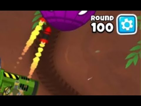 Round 100 Deflation Mode BEATEN With Striker Jones! | Bloons TD 6