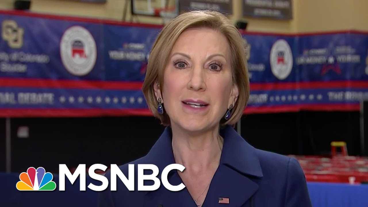 Carly Fiorina: Debates Not Be All End All | Morning Joe | MSNBC thumbnail