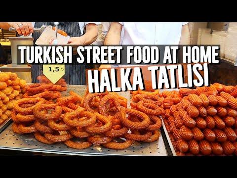 Authentic Turkish Street Food Dessert - Halka Tatlısı Recipe By Aysenur Altan