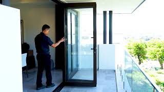 How to Open and Close a Bifold Door