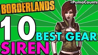 Top 10 Best Guns, Weapons and Gear for Lilith the Siren in Borderlands 1 #PumaCounts