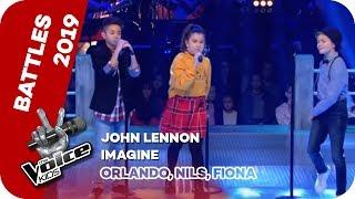 John Lennon - Imagine (Orlando, Nils, Fiona) | Battles | The Voice Kids 2019 | SAT.1