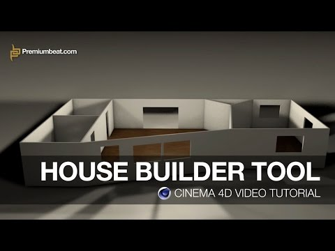 Cinema 4D Video Tutorial: House Builder Tool
