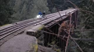 Rail Speeder ride on historic west coast railroad