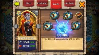 Double Evolved Vlad Dracula Looks Like a Tornado Going Through Bases Castle Clash