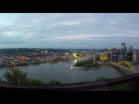 [Timelapse] Pittsburgh downtown, where 3 rivers meet!