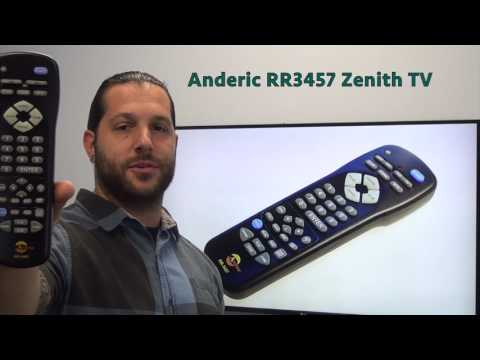 ANDERIC RR3457 Zenith TV Remote Control
