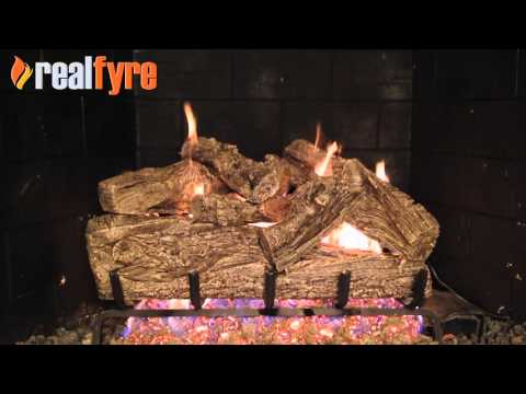 Peterson Rugged Oak Gas Logs Demonstration