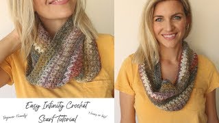 Easy Infinity Crochet Scarf - Beginner Friendly And Fast!