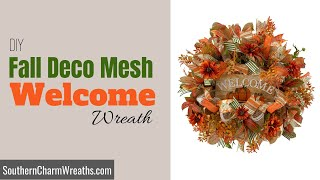 How To Make A Fall Deco Mesh Wreath
