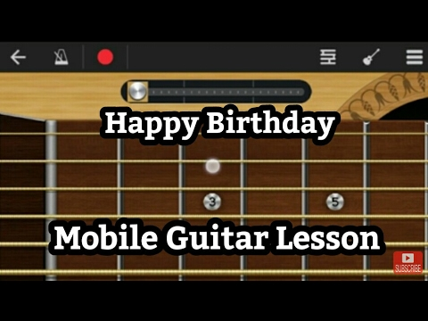 Happy Birthday song Guitar tabs/Notes Lesson On Walkband | Android | Easy for beginners | B'day song