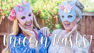 Crafting with Disney Princesses - Unicorn Masks!