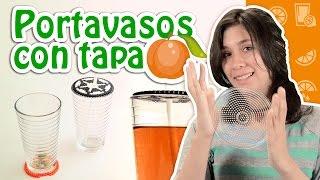 Pixelexip 09 :: Práctico portavasos y tapa de Hama Beads para proteger tus bebidas :D