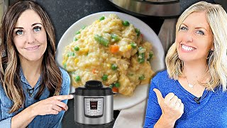 FAST Instant Pot Cheesy Chicken and Rice - Dump and Go Recipe!