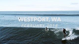 Surfing in Westport, Washington