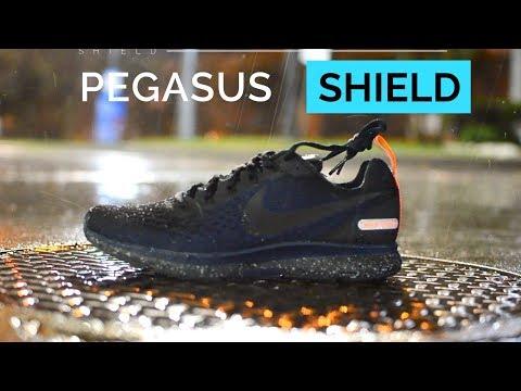 4fee992acab NIKE PEGASUS 34 SHIELD REVIEW Water Resistant Running Shoe play