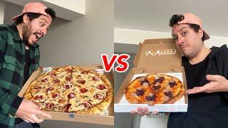 LA PIZZA MÁS GRANDE DE PERÚ VS LA PIZZA MÁS PEQUEÑA | elcholomena