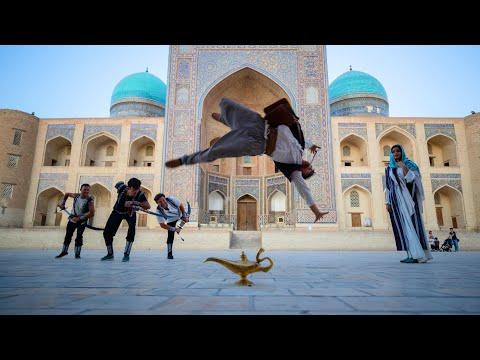 אלאדין עושה פארקור ברחבי אוזבקיסטן היפהפייה