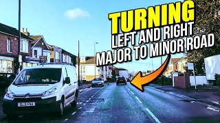 TURNING Left and Right - Major to Minor Road - How to Turn Left and How to Turn Right/Driving Lesson