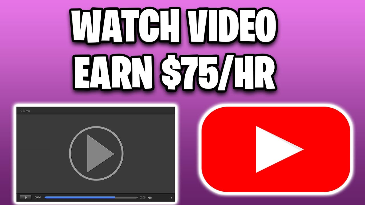 MAKE $75 PER HOUR ENJOYING VIDEOS [Generate Income Online Totally Free] thumbnail