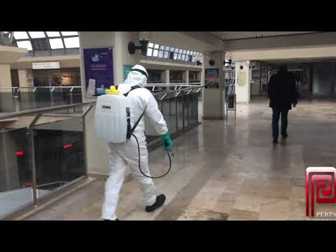 Perpa Dezenfekte Ediliyor